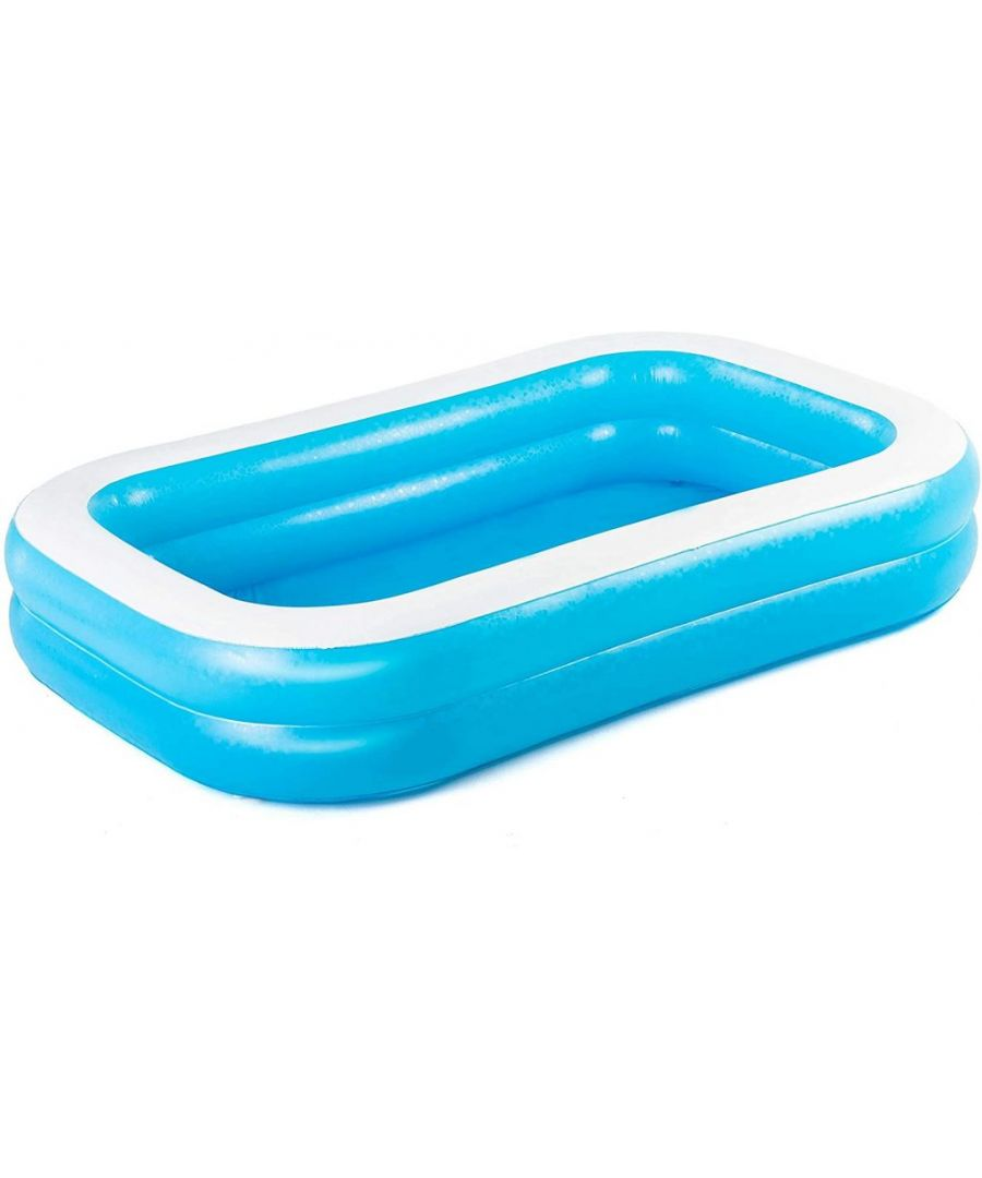 Image for Bestway Family Rectangular Inflatable Pool with Water Capacity 778L  - Blue / White