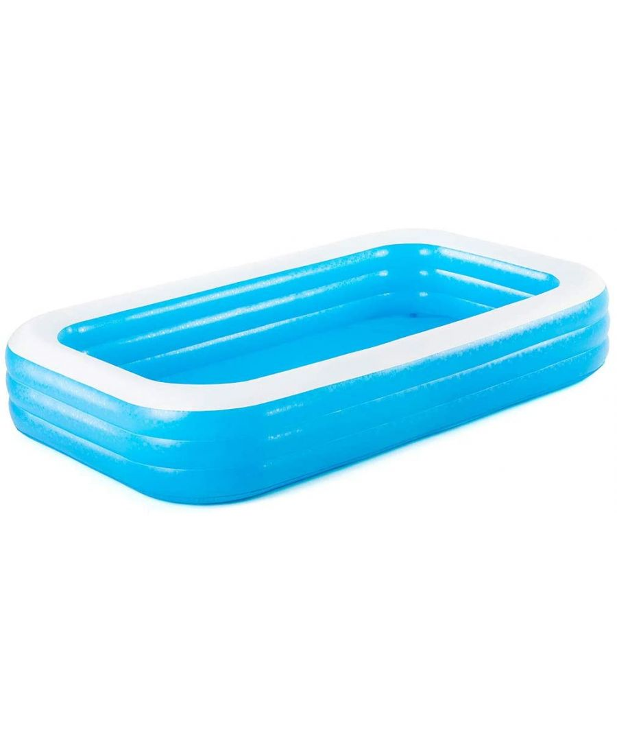 Image for Bestway Inflatable Regtangular Family Pool with Water Capacity 1,161L - Blue