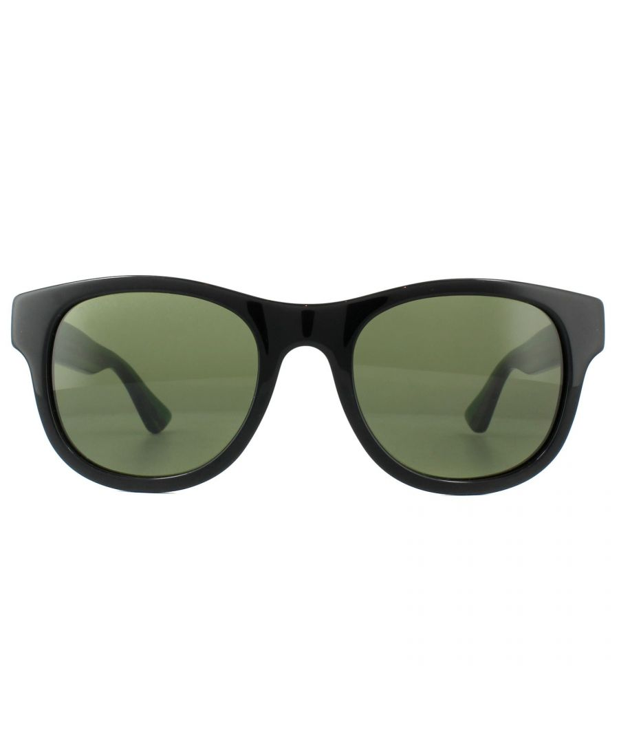 Image for Gucci Sunglasses GG0003S 002 Black Green Red Green