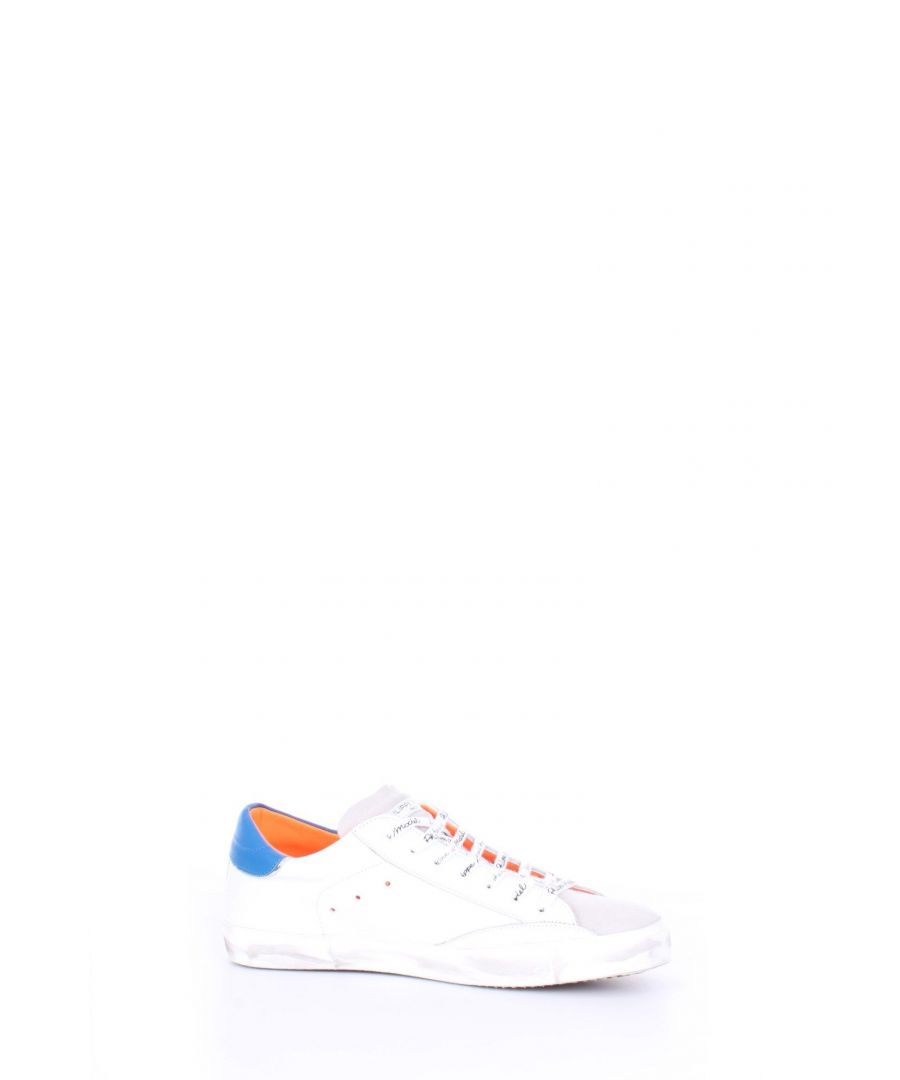 Image for PHILIPPE MODEL MEN'S PRLUVF03 WHITE LEATHER SNEAKERS