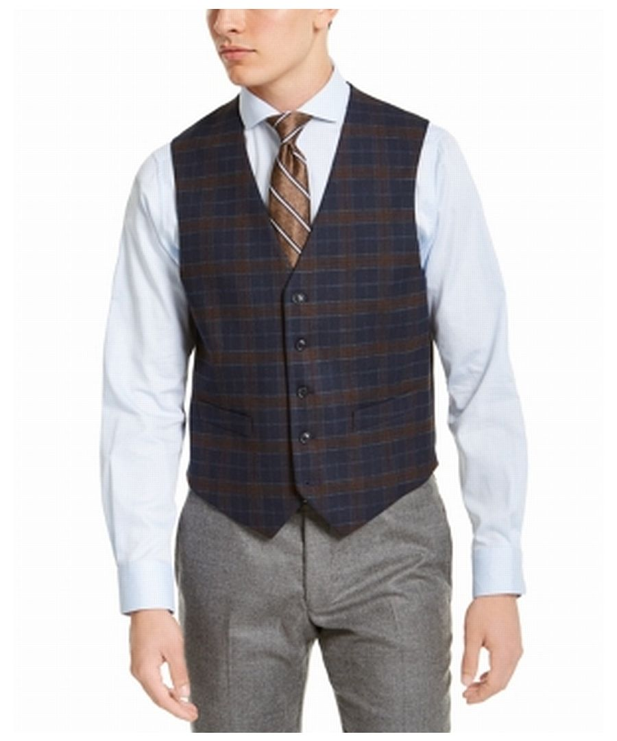 Image for Tommy Hilfiger Mens Blue Size 2XL Vest Tailored To Move Modern Fit
