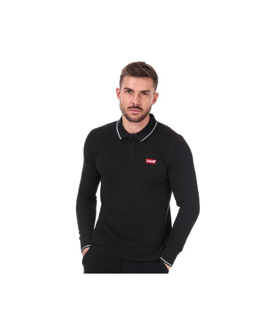Image for Men's Levis LS Modern HM Polo Shirt in Black