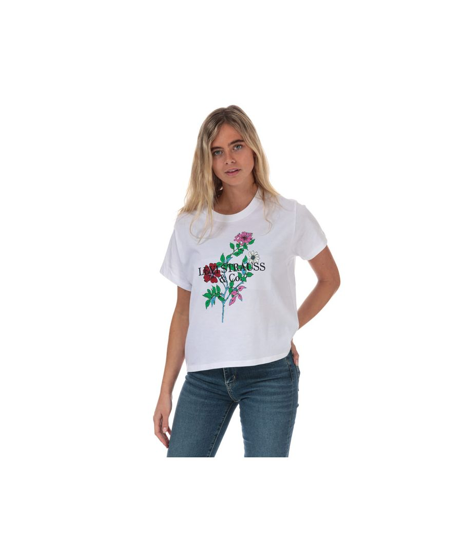 Image for Women's Levis Graphic Varsity T-Shirt in White