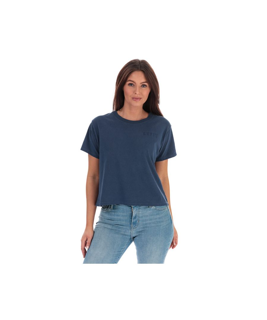 Image for Women's Levis Graphic Varsity T-Shirt Blue 6in Blue