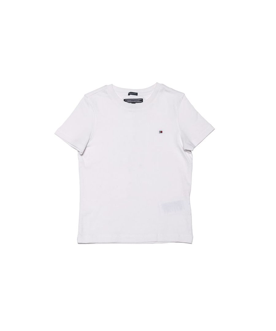 Image for Boy's Tommy Hilfiger Infant Essential Organic Cotton T-Shirt In White