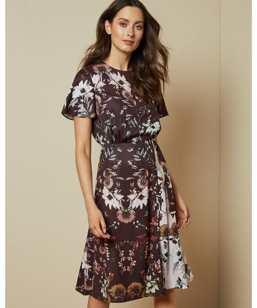 Image for Ted Baker Yaela Amethyst Asymmetric Hem Dress, Ox Blood