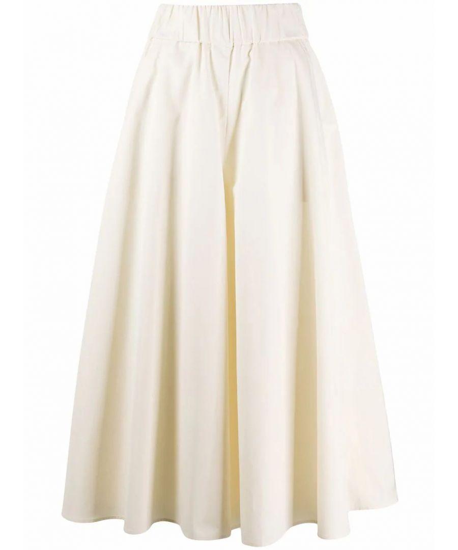 Image for ASPESI WOMEN'S H114D30785042 BEIGE COTTON PANTS