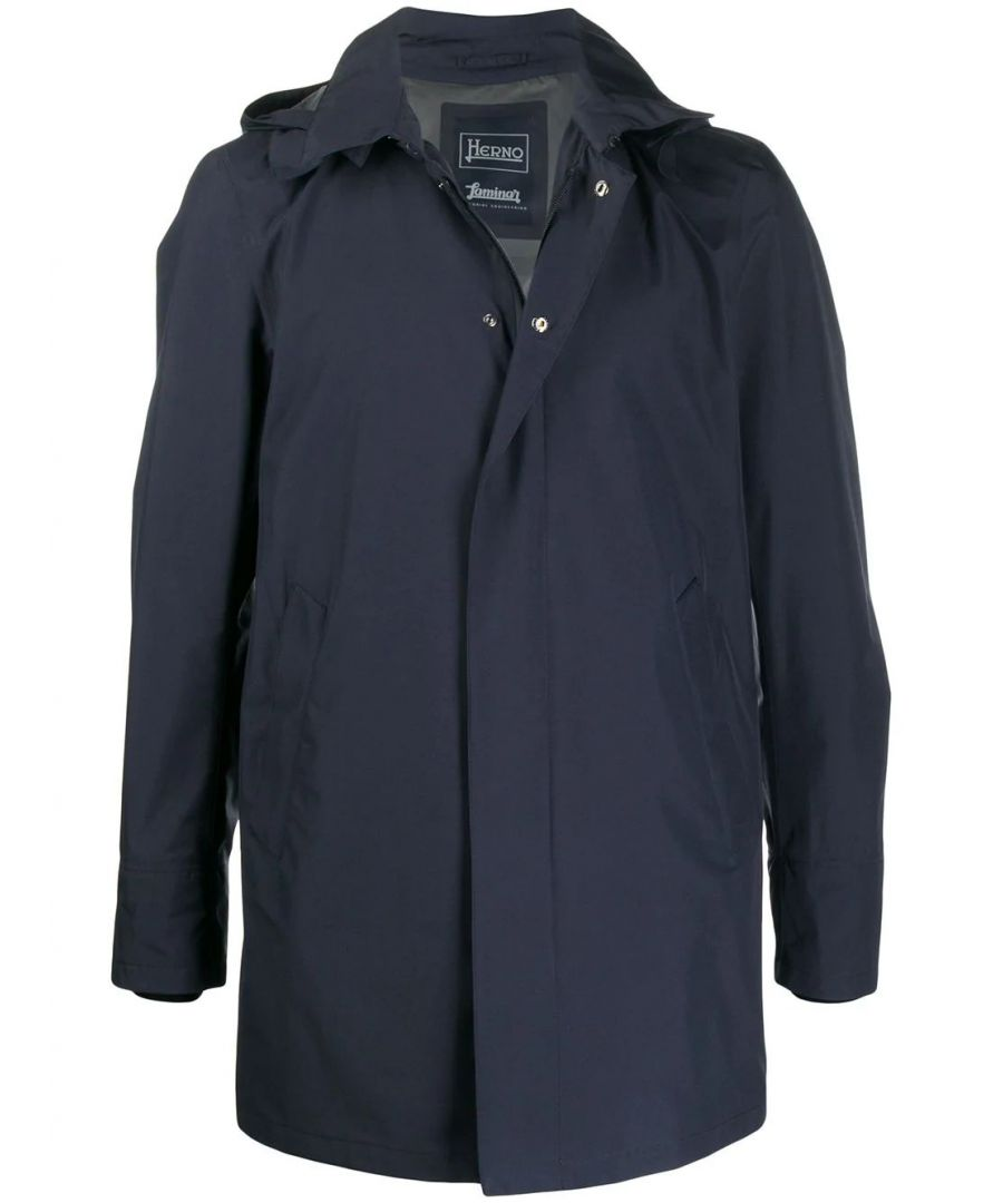 Image for HERNO MEN'S IM038UL111019201 BLUE POLYESTER OUTERWEAR JACKET