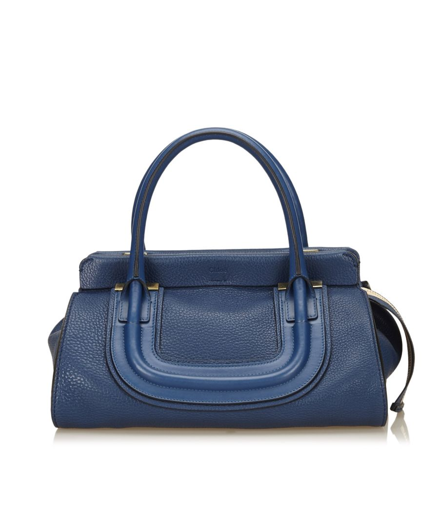 Image for Vintage Chloe Leather Everston Blue