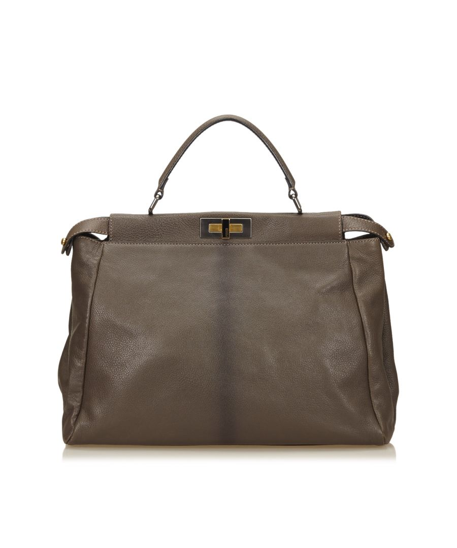 Image for Fendi Leather Peekaboo Brown