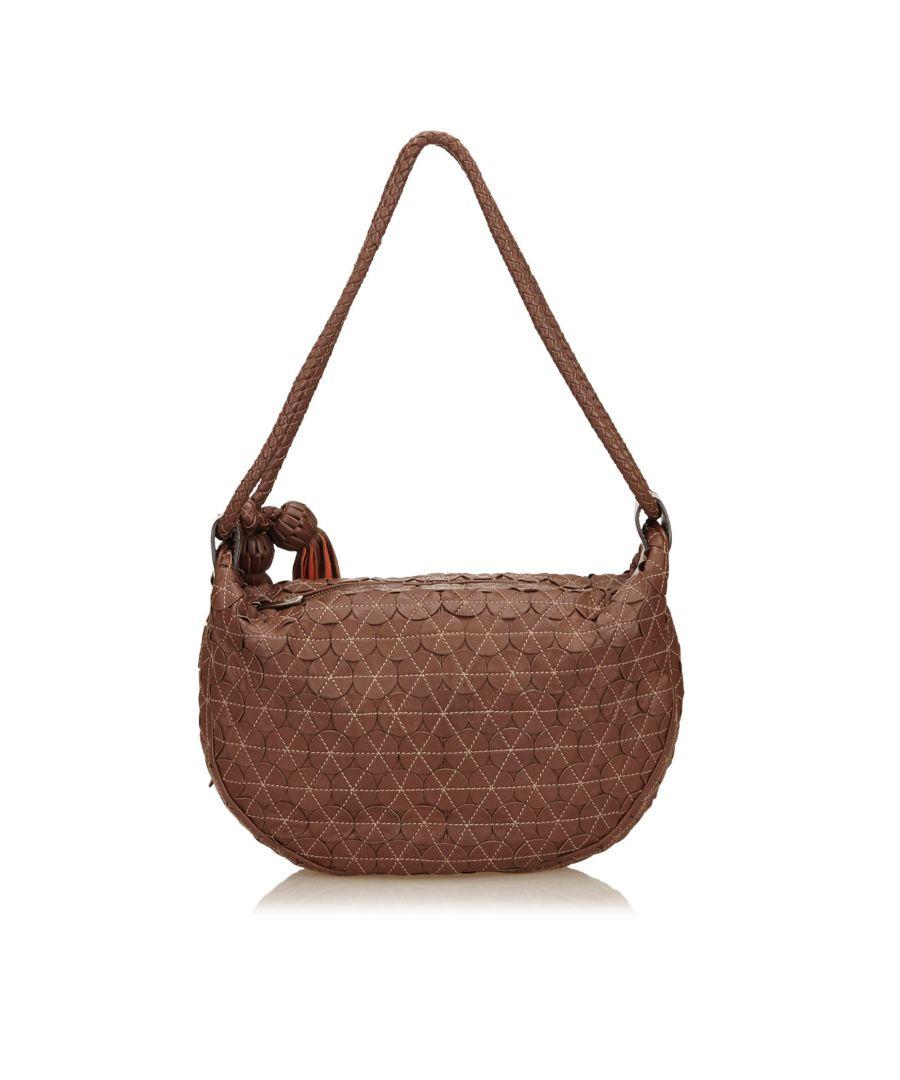 Image for Vintage Mulberry Textured Leather Shoulder Bag Brown