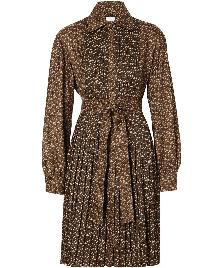 Image for BURBERRY WOMEN'S 8025041 BROWN POLYESTER DRESS