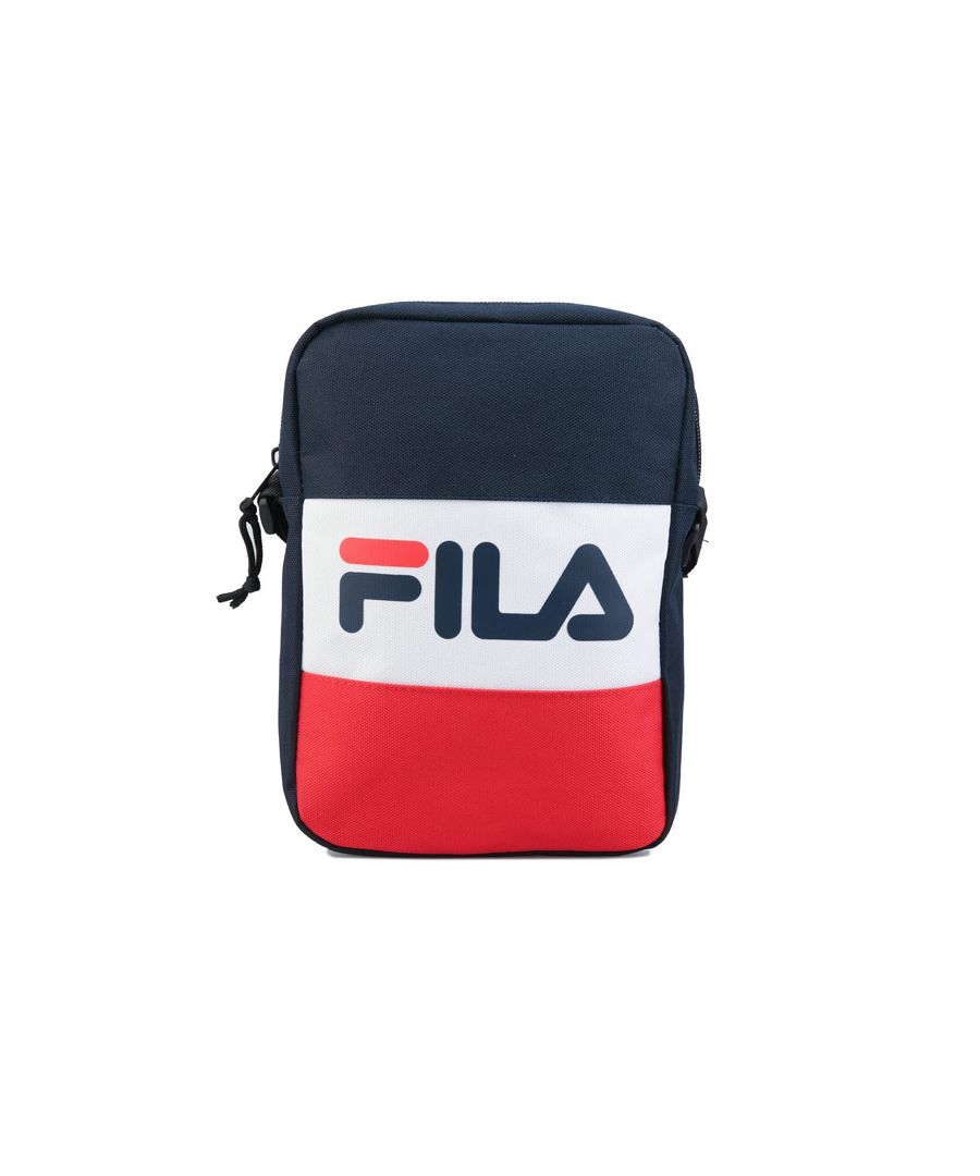 Image for Fila Rizzo Small Cross Body Bag in Navy White Red