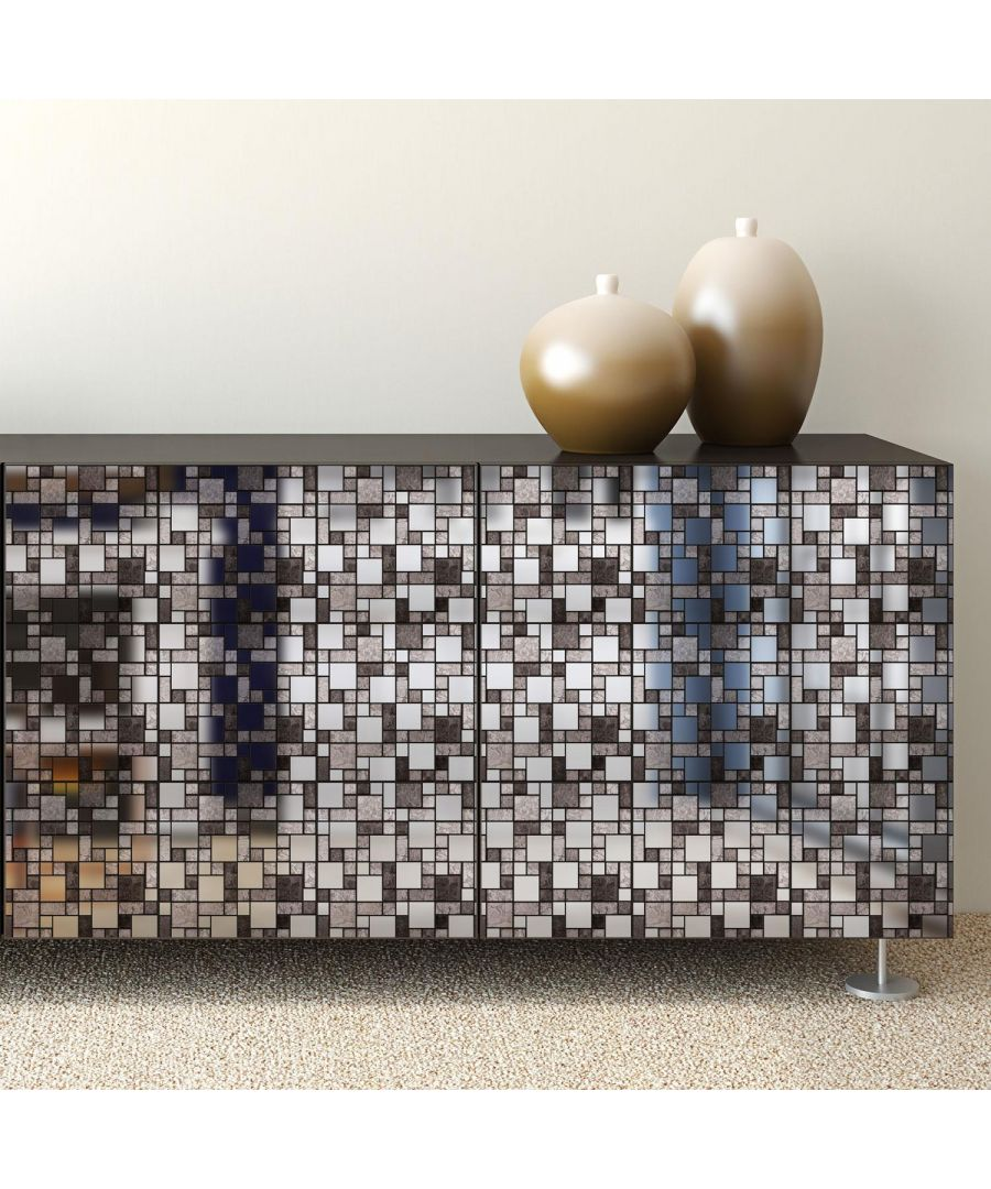 Image for Metallic Silver Grey Stone Mosaic Wall Tile Sticker Set - 15cm (6inch) - 24pcs one pack