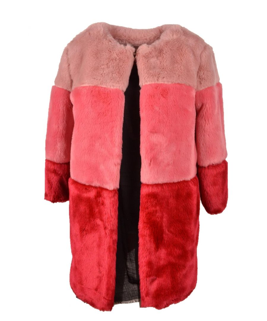 Image for TWENTY EASY BY KAOS WOMEN'S PV008PINK PINK FAUX LEATHER OUTERWEAR JACKET