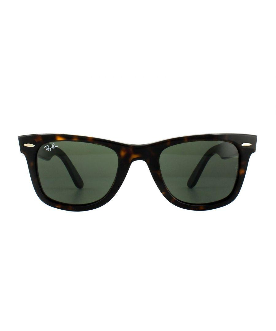 Image for Ray-Ban Sunglasses Wayfarer 2140 902 Tortoise Green G-15 Medium 50mm