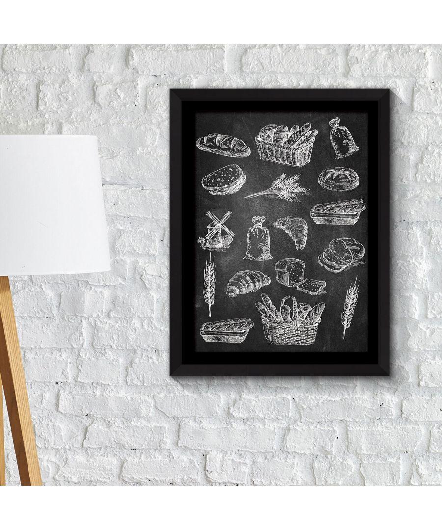 Image for Framed Art 2in 1 Breads Poster Framed Photo, Framed Art