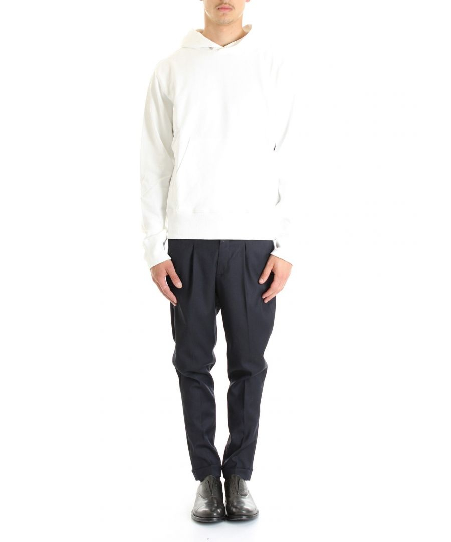 Image for HELMUT LANG MEN'S J04DM501VO2 WHITE COTTON SWEATSHIRT