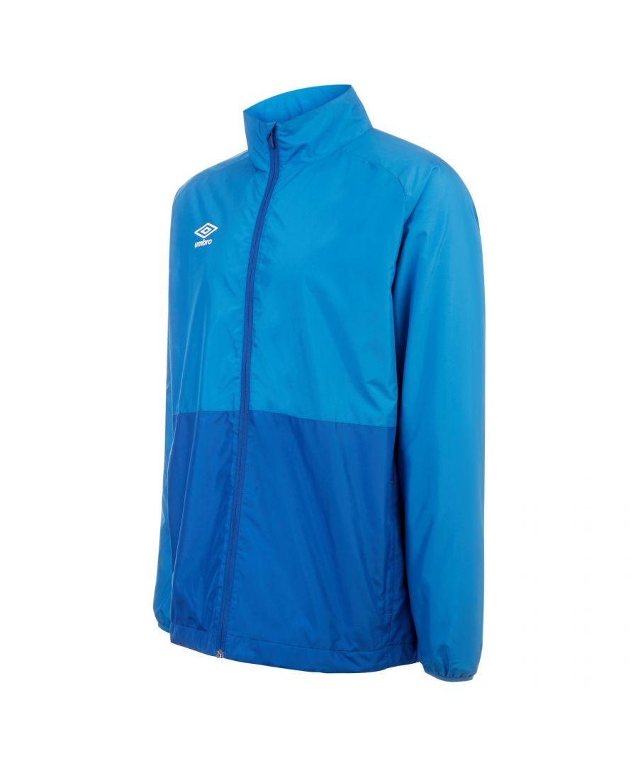 Image for Umbro Boys Showerproof Training Jacket (French Blue/Royal Blue)