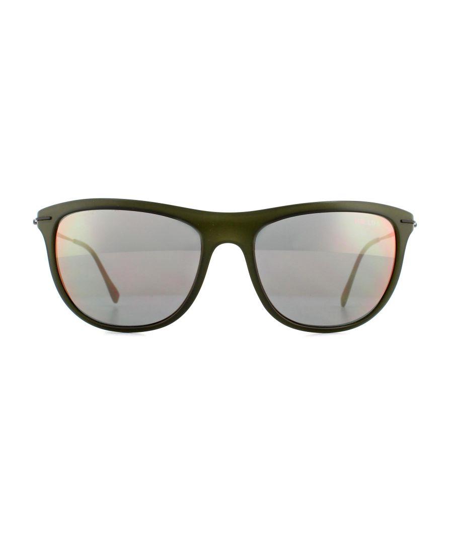 Image for Prada Sport Sunglasses 01PS ROS2D2 Green Orange Mirror