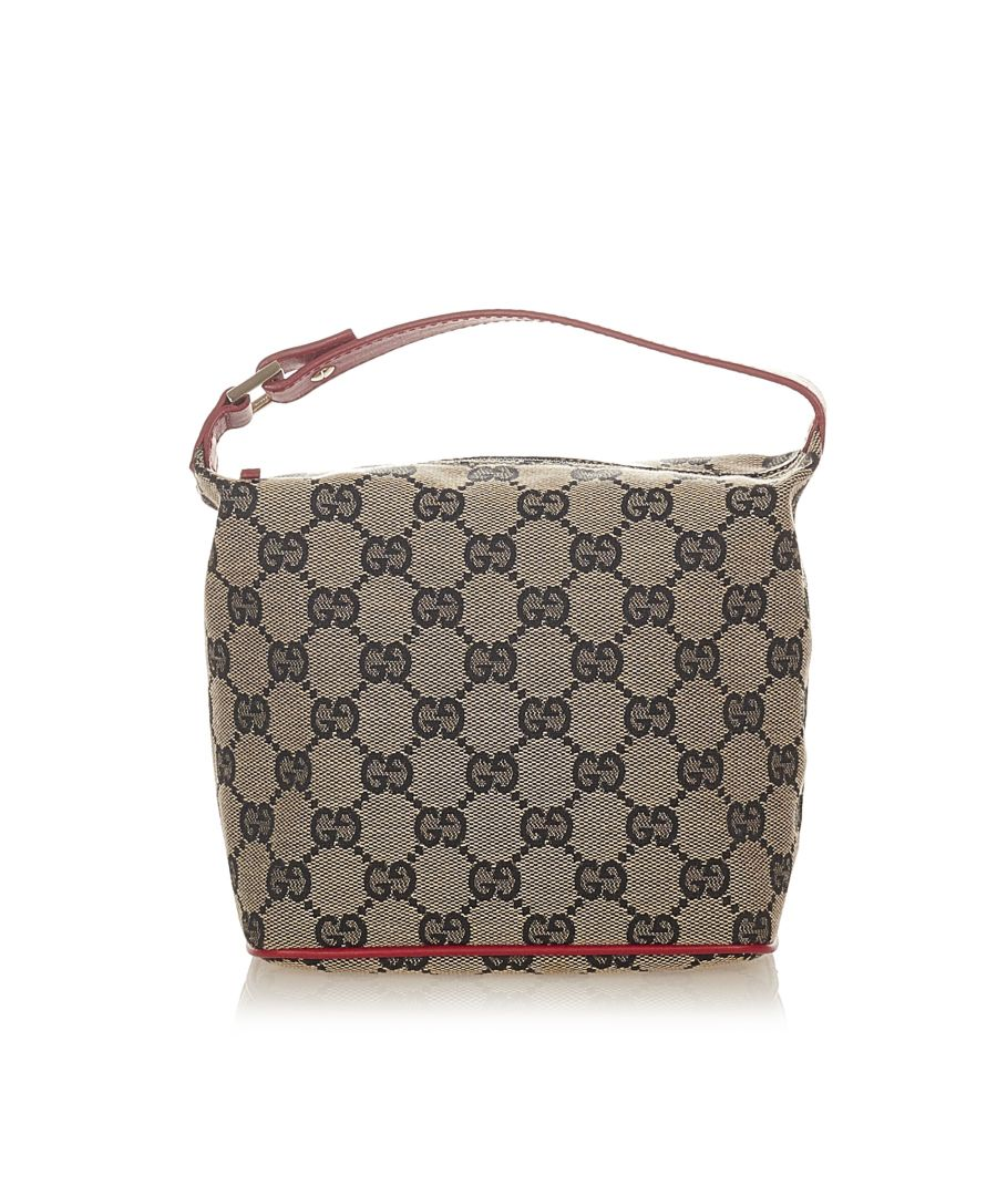 Image for Vintage Gucci GG Canvas Handbag Gray