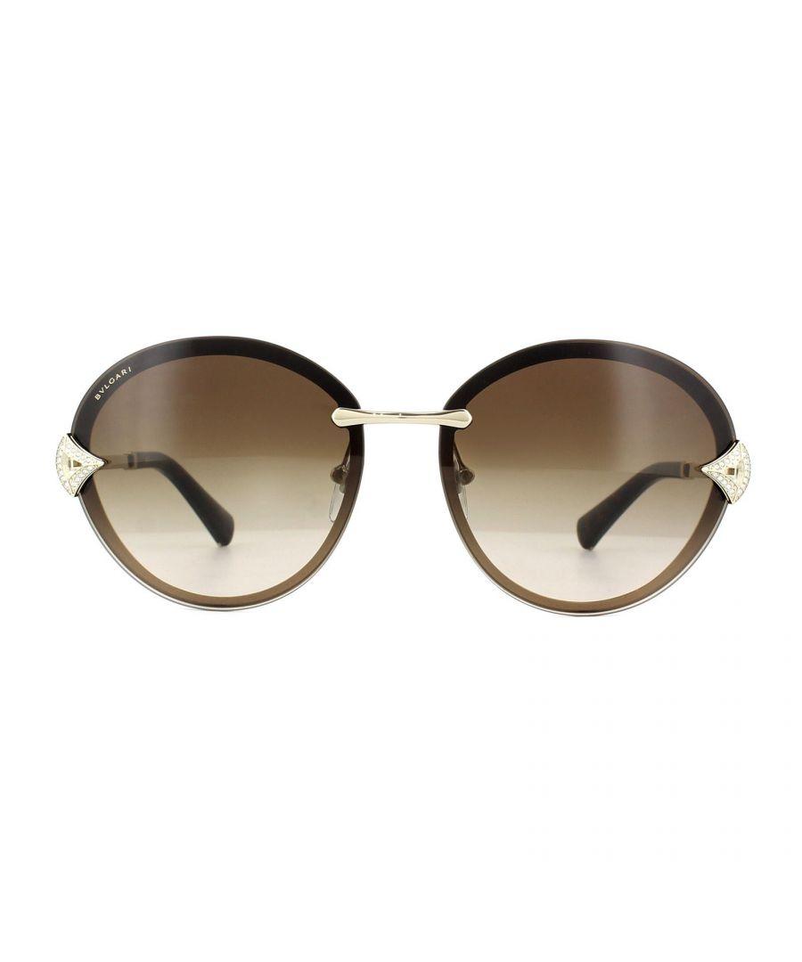 Image for Bvlgari Sunglasses 6101B 278/13 Pale Gold Brown Gradient