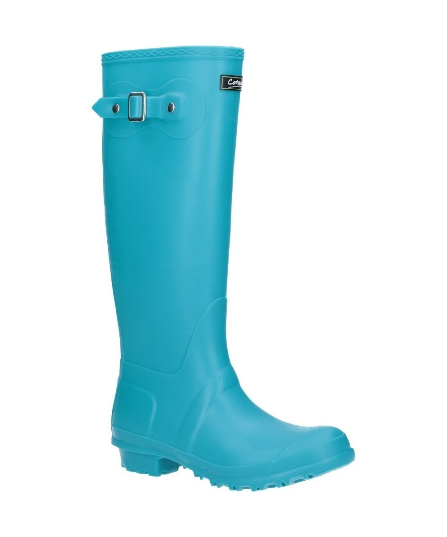 Image for Cotswold Sandringham Buckle-Up Womens Wellington Boots (Turquoise)