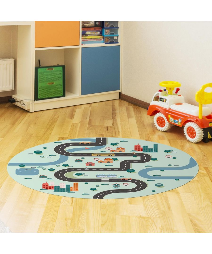 Image for City Travel Mat 99 cm Diameter Floor Mats, Floor Rugs