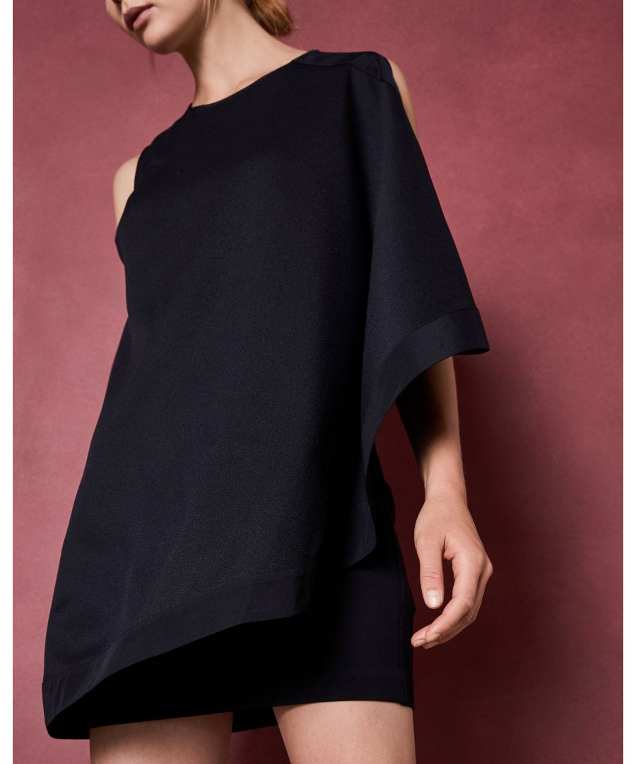 Image for Ted Baker Bolty One Sided Draped Tunic, Navy