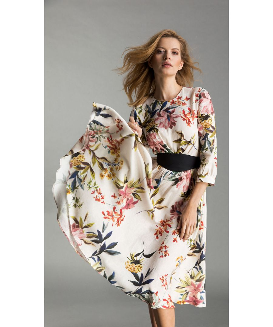 Image for Yvonne Floral White Dress