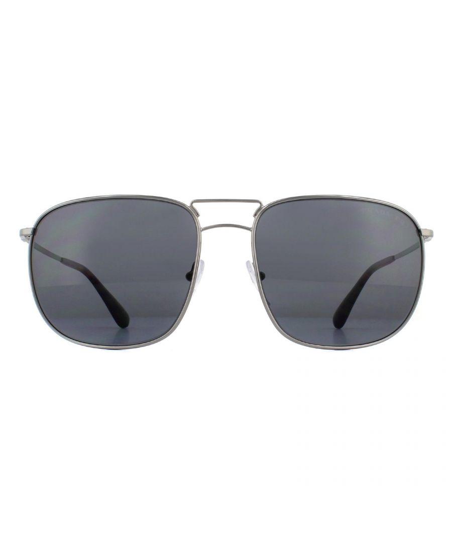 Image for Prada Sunglasses 52TS 5AV5Z1 Gunmetal Grey Polarized