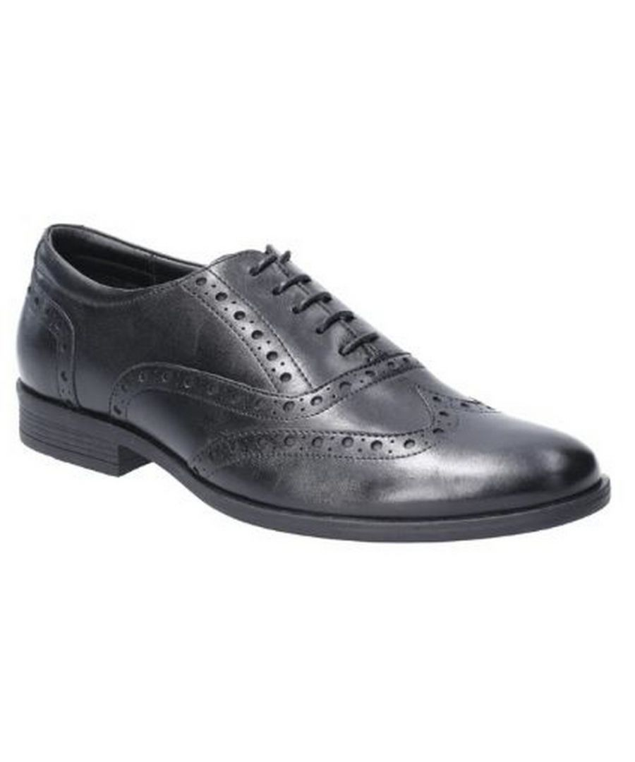 Image for Hush Puppies Mens Oaken Brogue Leather Shoe (Black)