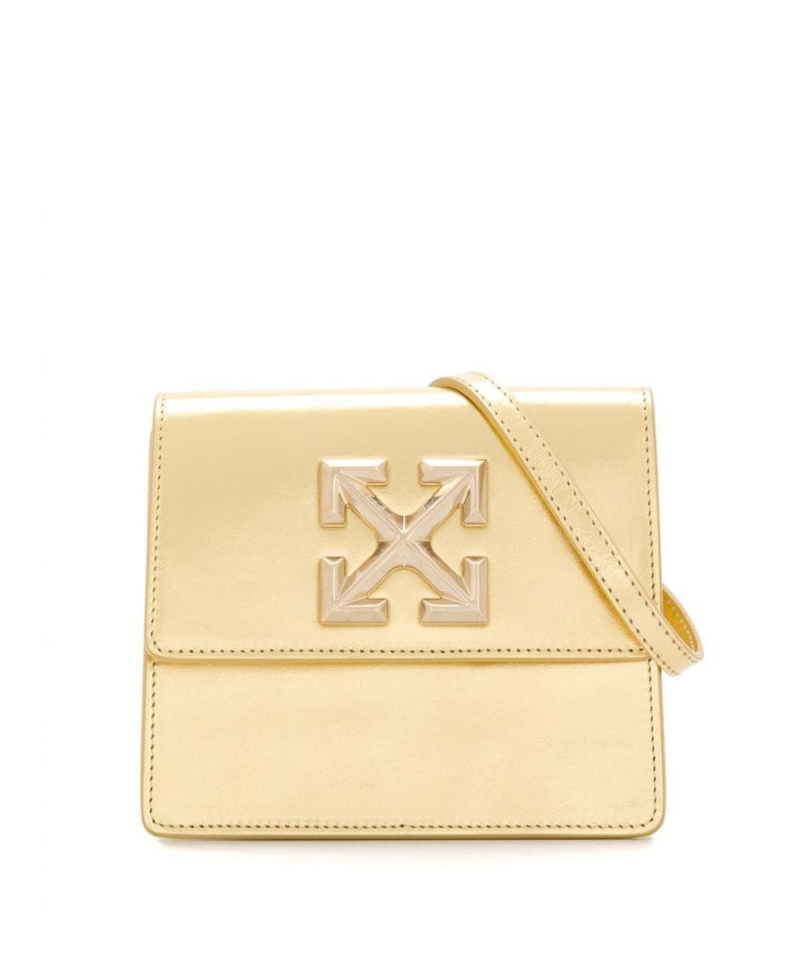 Image for OFF-WHITE WOMEN'S OWNA093S20LEA0047600 GOLD LEATHER SHOULDER BAG