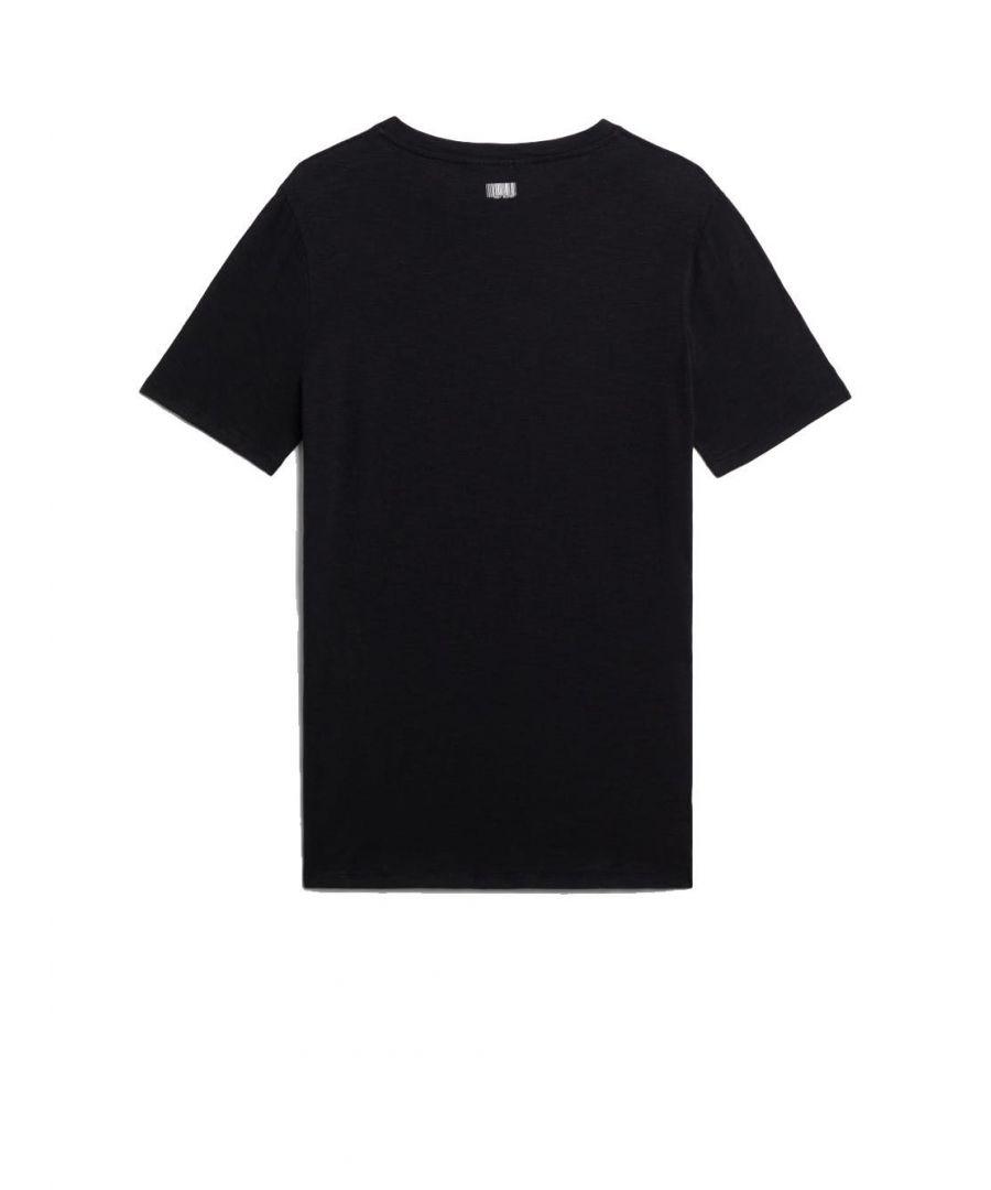 Image for NEIL BARRETT MEN'S BJT598M571S01 BLACK COTTON T-SHIRT