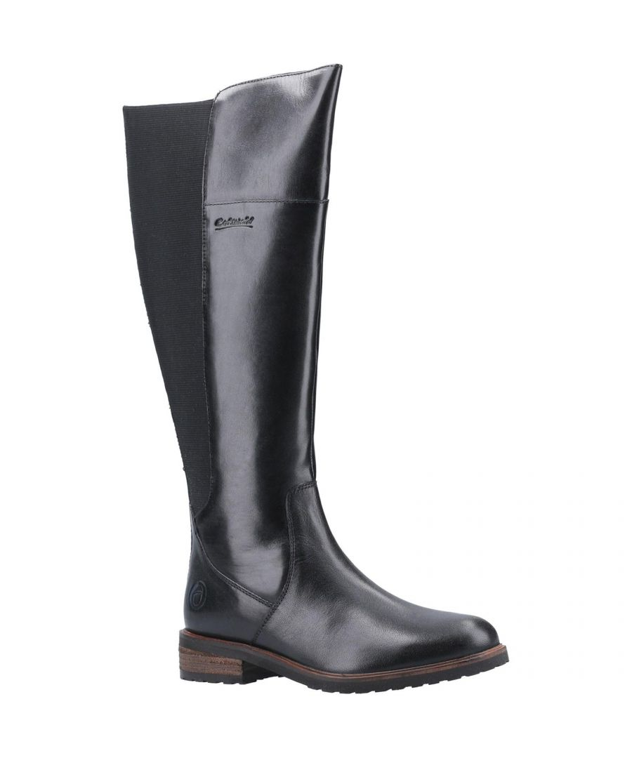 Image for Cotswold Womens/Ladies Montpellier Softie Leather Long Boots (Black)