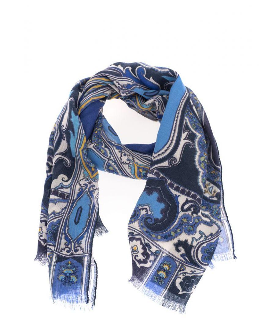 Image for ETRO MEN'S 1000750180200 BLUE CASHMERE SCARF