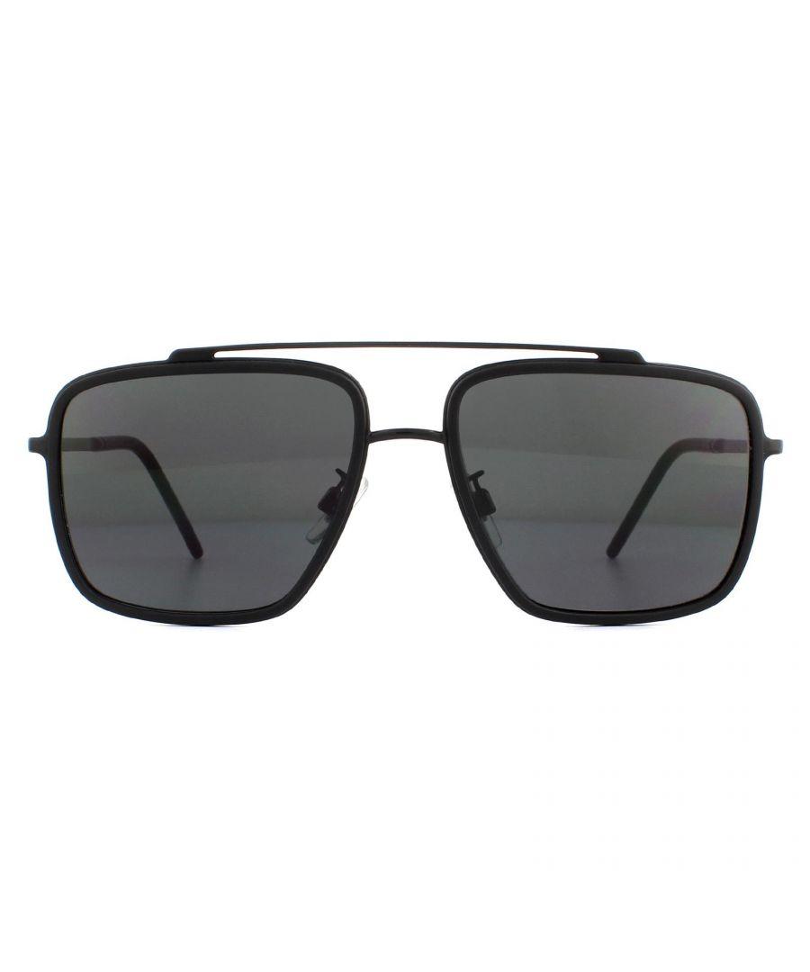 Image for Dolce & Gabbana Sunglasses DG2220 01/87 Black and Matte Black Dark Brown Gradient