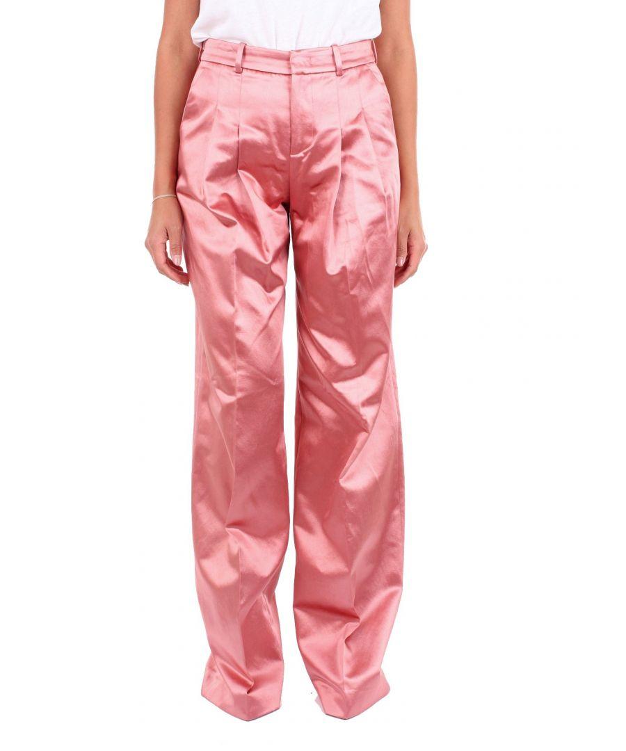 Image for PT01 WOMEN'S RI28VSASZ00STDPOWDERPINK PINK COTTON PANTS