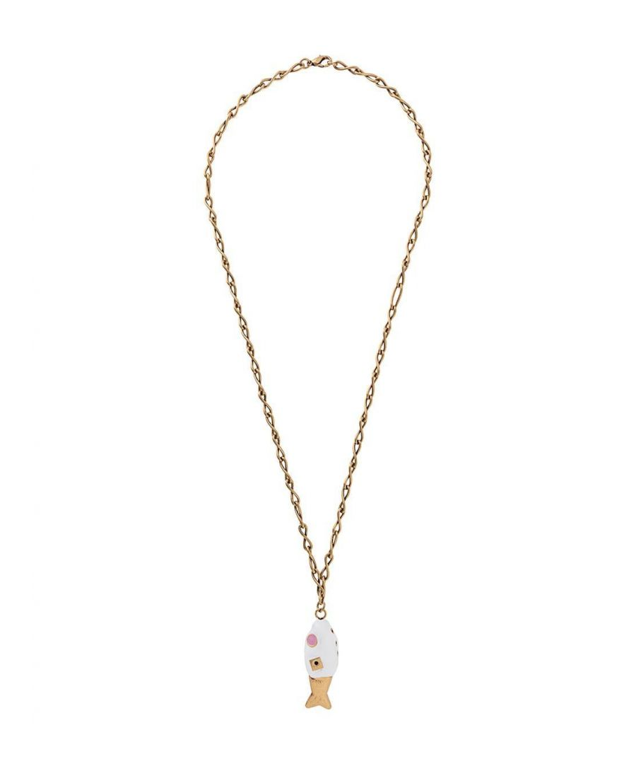 Image for MARNI WOMEN'S COMV0165A0M200000W01 WHITE METAL NECKLACE