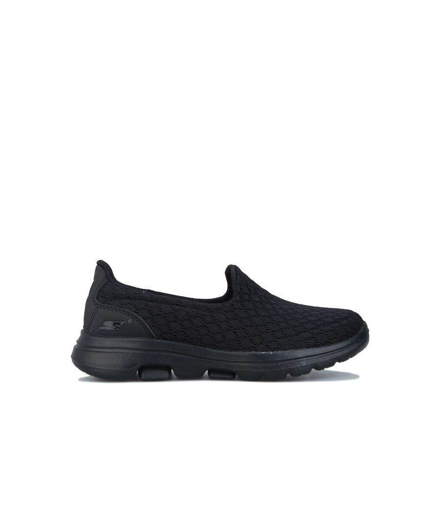 Image for Girl's Skechers Children Go Walk 5 Slip On Trainers in Black