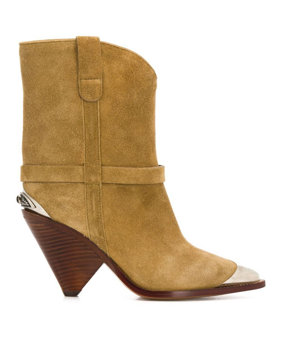 Image for ISABEL MARANT WOMEN'S BO019420P009S90BE BEIGE SUEDE ANKLE BOOTS