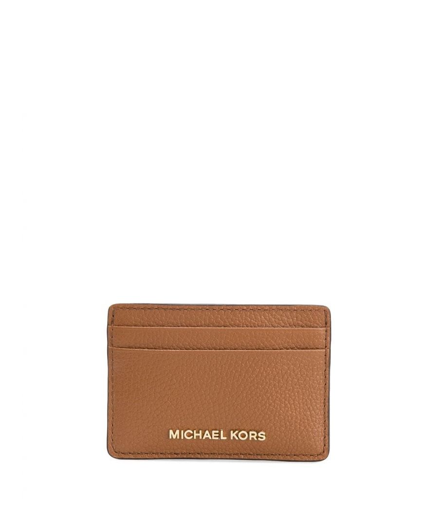 Image for MICHAEL KORS WOMEN'S 34F9GF6D0L230 BROWN LEATHER CARD HOLDER