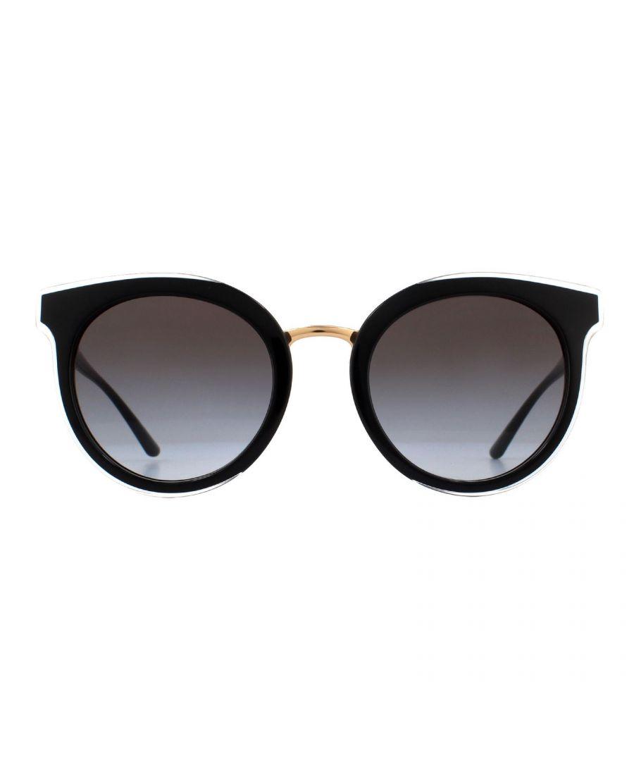 Image for Dolce & Gabbana Sunglasses DG4371 53838G Top Crystal on Black Grey Gradient