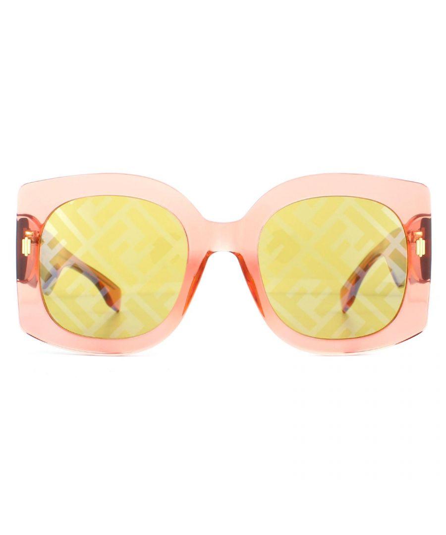 Image for Fendi Sunglasses FF0436/G/S L7Q/BF Transparent Orange Gold Silver Monogram