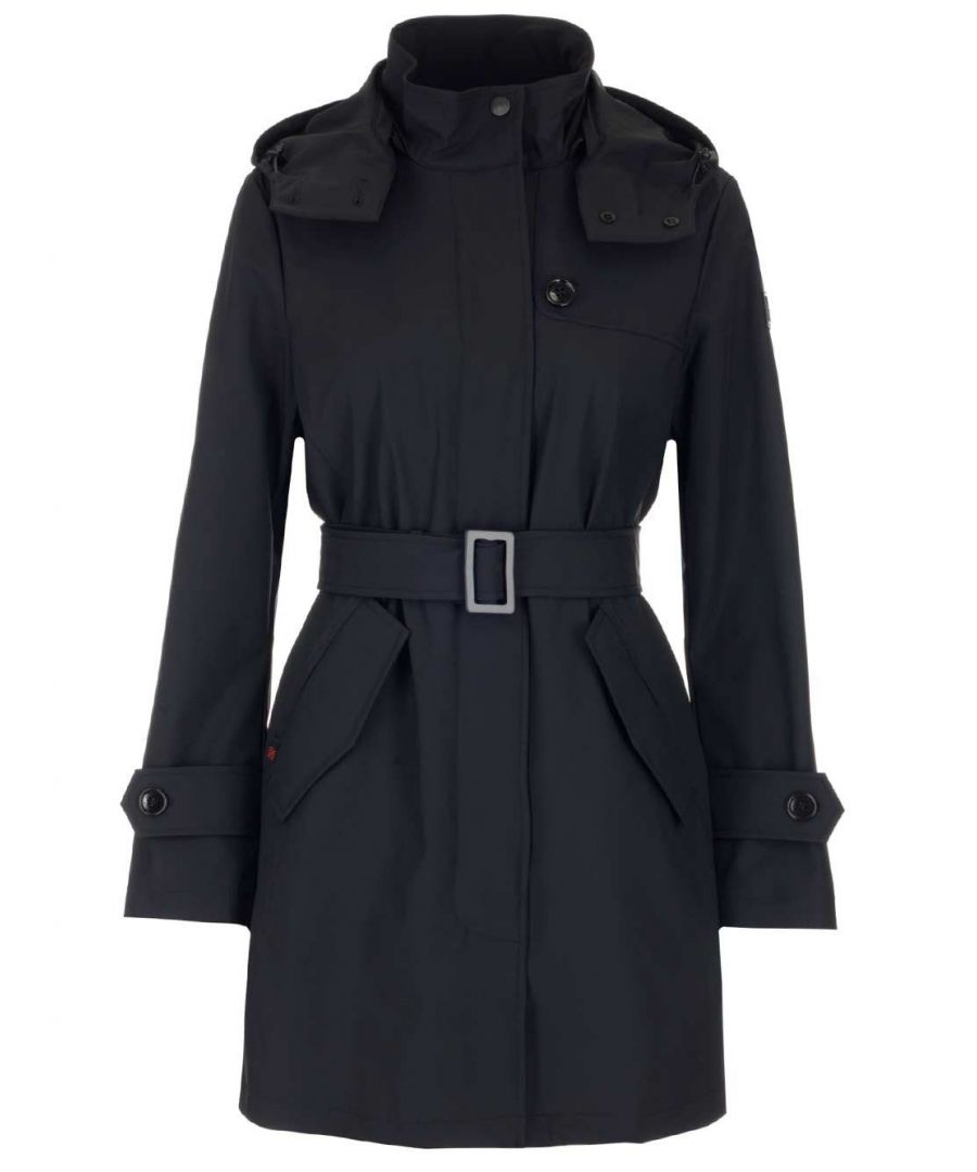Image for WOOLRICH WOMEN'S WWOU0201FRUT0102100 BLACK COTTON TRENCH COAT