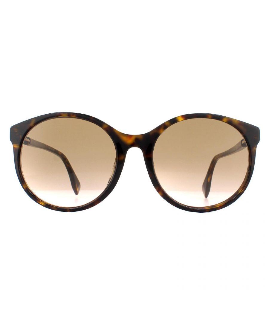 Image for Fendi Sunglasses FF 0362/F/S 086 M2 Dark Havana Brown Gradient