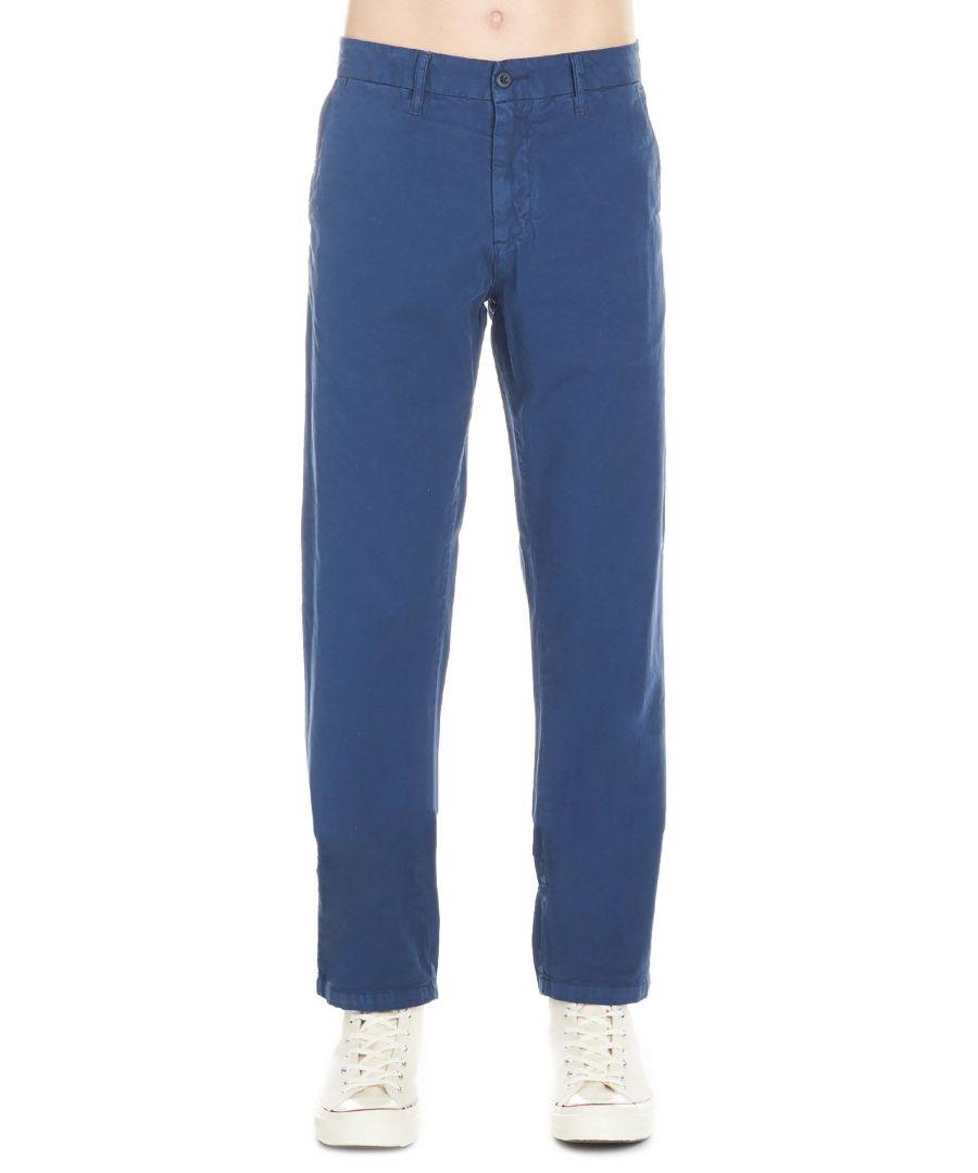 Image for CARHARTT MEN'S I02115532 BLUE COTTON PANTS