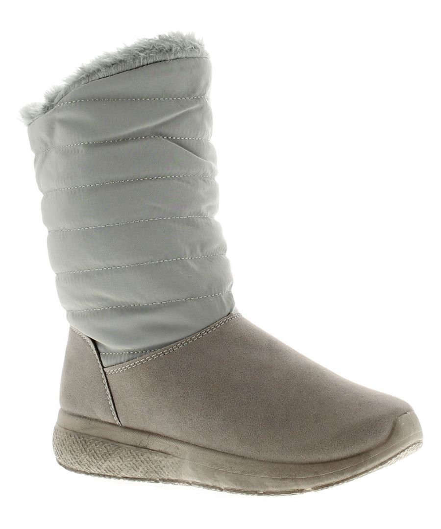 Image for Ladies Two Ways To Wear Boot With Imitation Suade Upper And Fur Top Line
