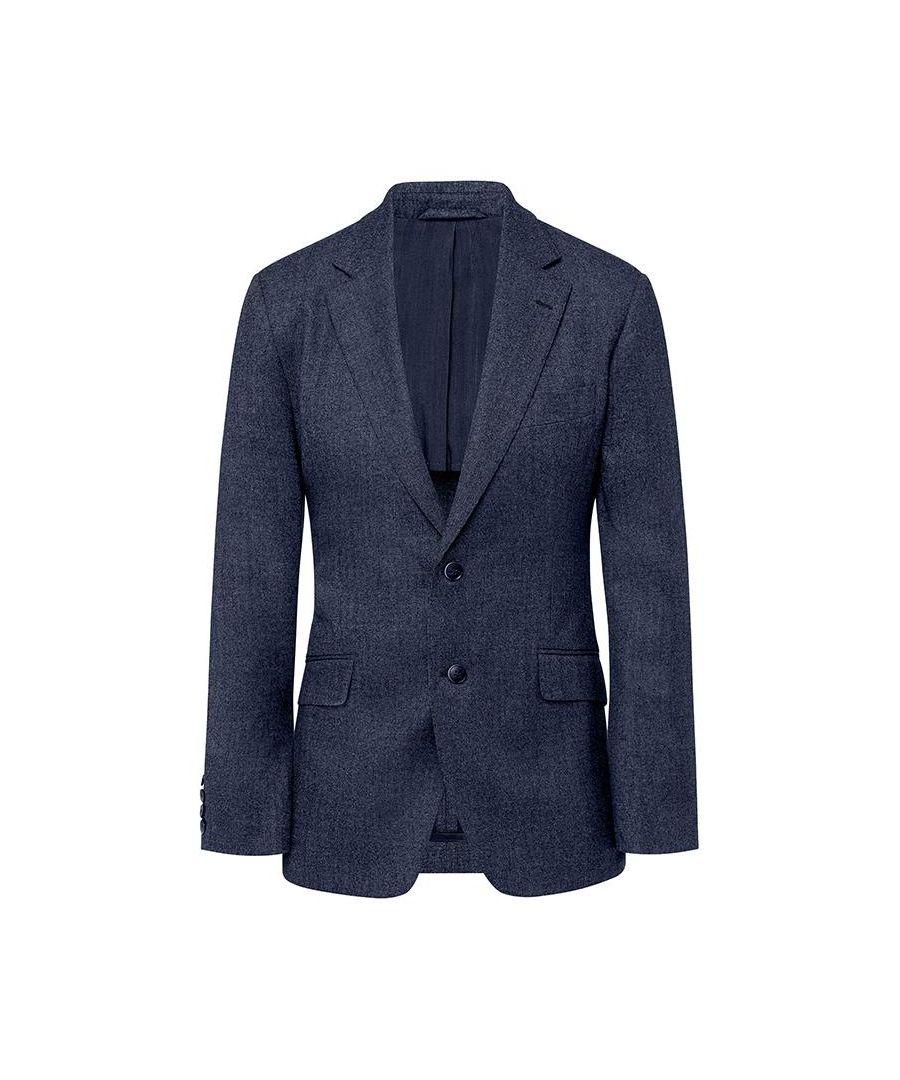 Image for Men's Hackett, Flannel Pinhead Jacket in Blue