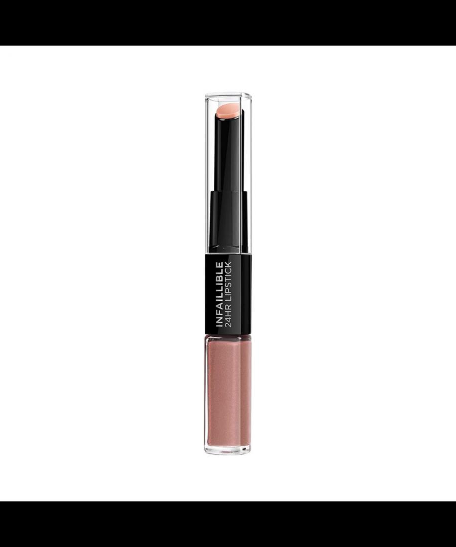 Image for L'oreal infaillible 24hr 2 step lipstick - 115 infinitely mocha